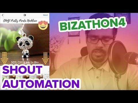 AUTOMATE SHOUT MARKETING (INFLUENCER STRATEGY) FOR SHOPIFY SALES (Bizathon4 Ep8)