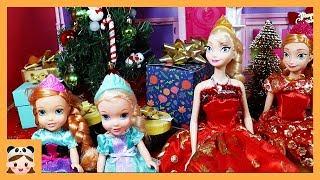 크리스마스 캐롤 인형놀이 드라마 일상 밀착중계 ! 디즈니 공주 장난감 노래 놀이 Christmas Morning routine | 보라미TV