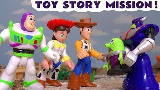 Funny Funlings meet Toy Story 4 Buzz Lightyear Jessie and Woody on a secret mission TT4U thumbnail