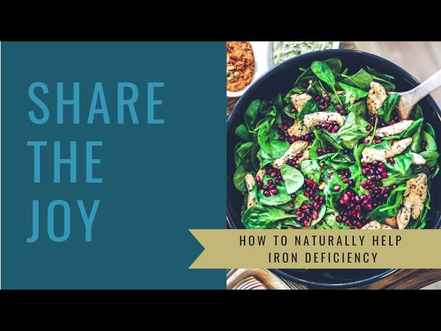 Share the Joy #119 How to naturally help Iron Deficiency