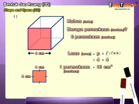 Easytuition Demo Video Upsr Matematik Bentuk Dan Ruang 3d Youtube