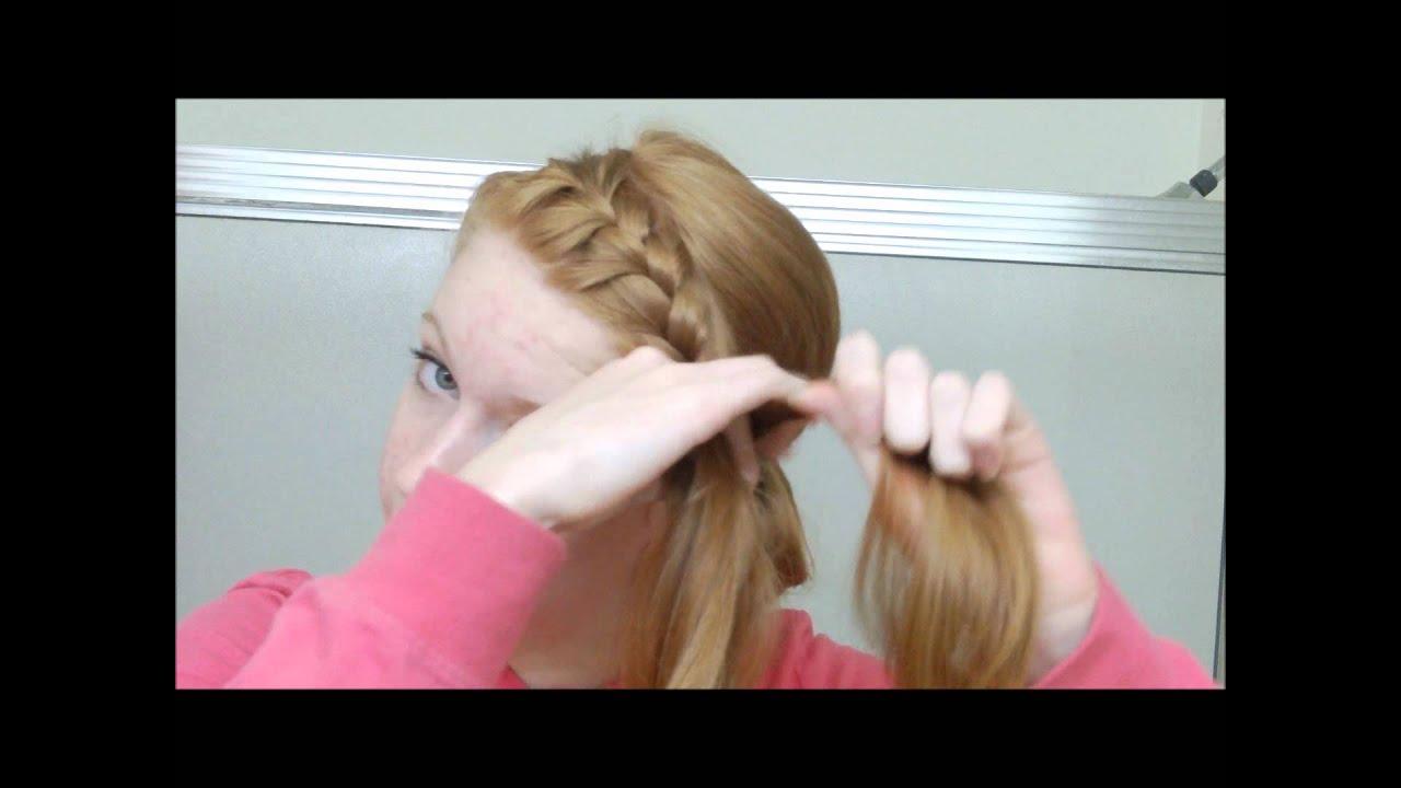 French Braided Headband Into Messy Bun Youtube