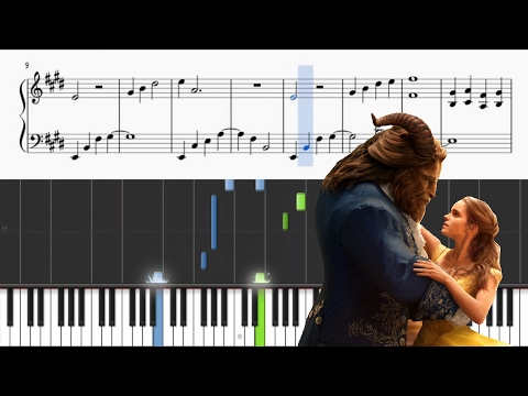 Beauty And The Beast - Ariana Grande & John Legend - Piano Tutorial + SHEETS