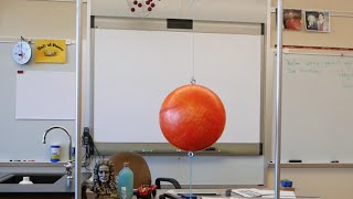 Inertia ball demonstration // Homemade Science with Bruce Yeany