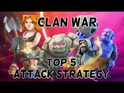 Clan war | Top 5 3 star attack strategy for TH10 | Clash of clans