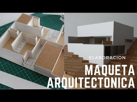 COMO SE HACE una MAQUETA de Arquitectura (PARTE 1)