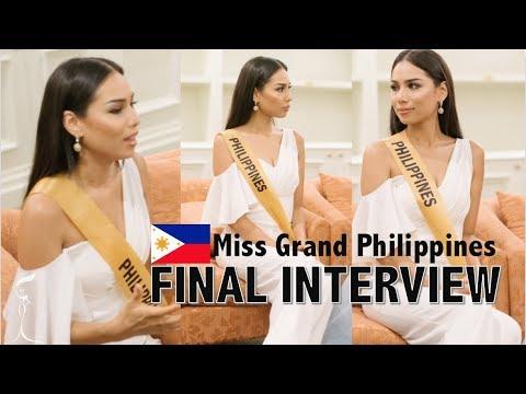 Miss Grand International 2017: FINAL INTERVIEW - MISS PHILIPPINES Elizabeth Clenci - FULL (HD)