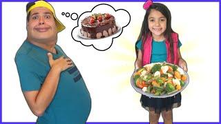 ANNY ensina o CAIO a comer e a se exercitar bem - Anny  teaches CAIO to eat and exercise properly