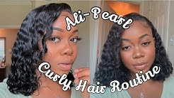 Defined curly hair routine +Ali pearl deep wave review