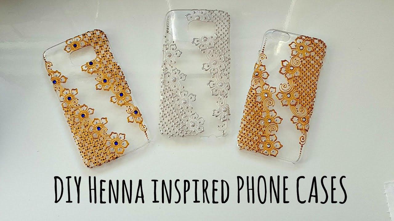 DIY Henna Inspired Phone cases | Henna Art by Aroosa - YouTube