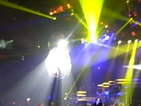 Justin singing Up!!! June 24,2010 Sun National bank Center Arena