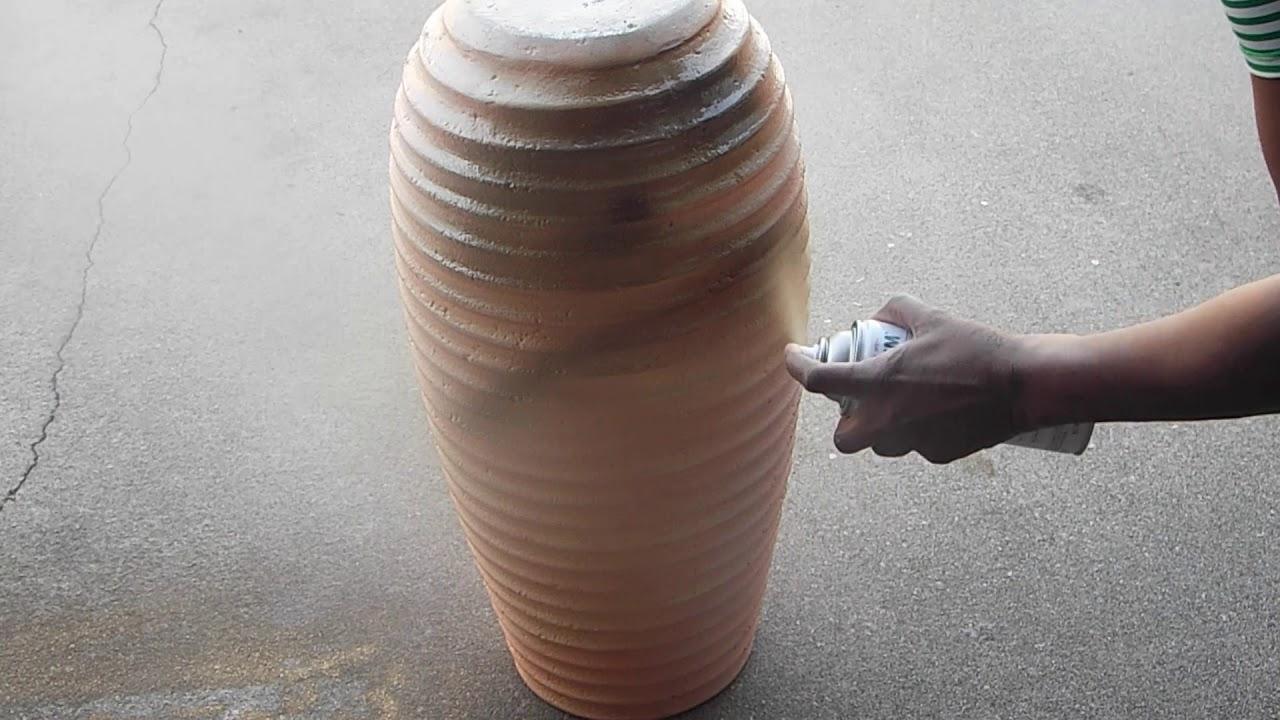 7cdbabc1d5 Fall Diy Series #5: Ceramic Vase Spray Painted Gold Part 1 - YouTube