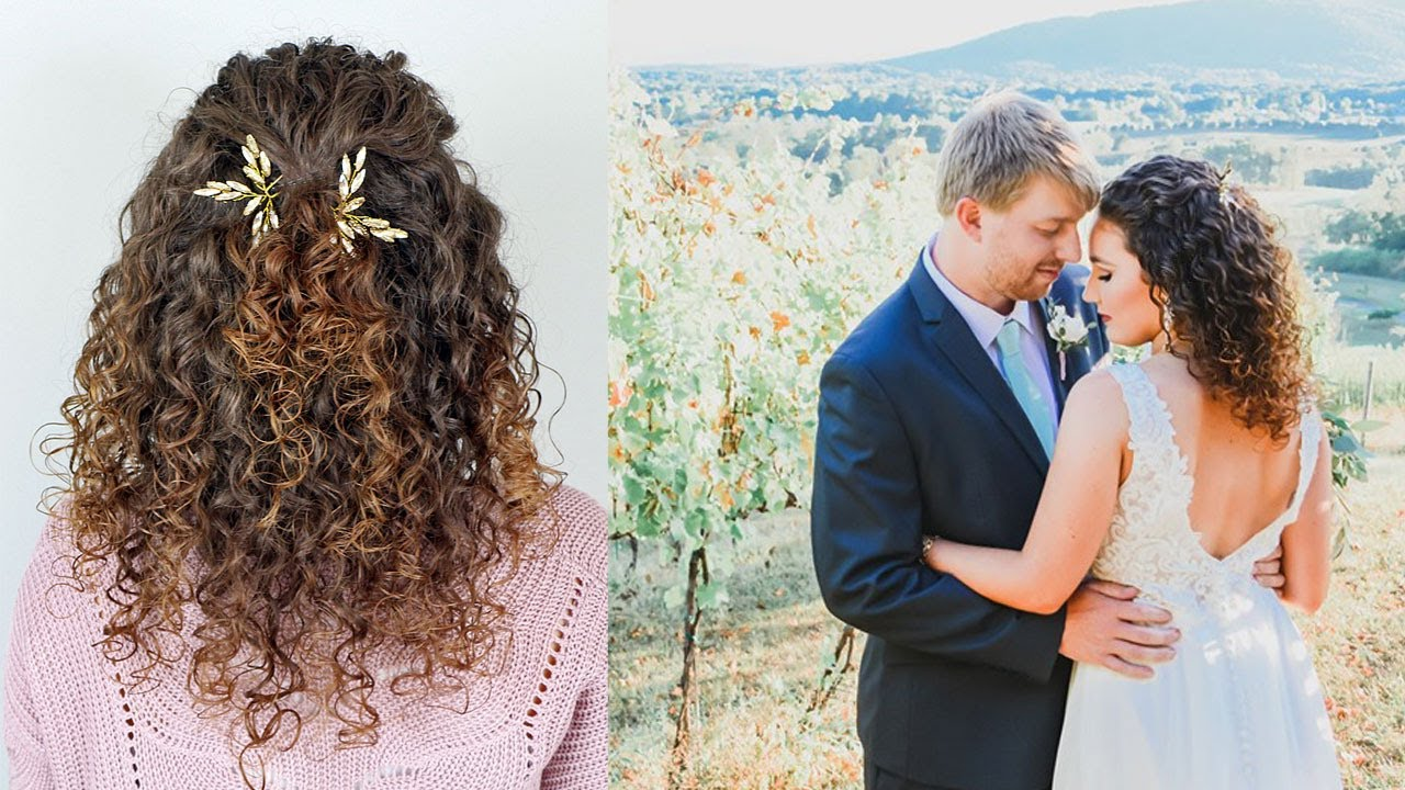 Easy Wedding Hairstyle for Naturally Curly Hair