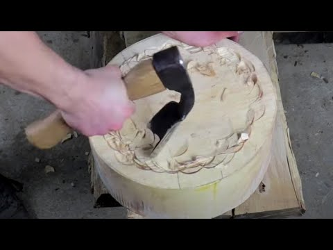 Restored Rusty Adze Axe used to Make Bowl Again