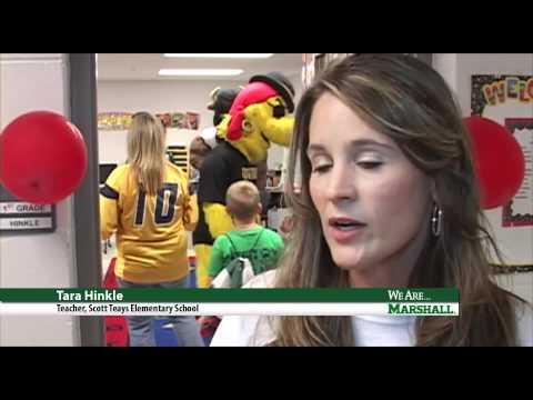 Marshall University:  MARCO Visits Scott Teays Elementary School