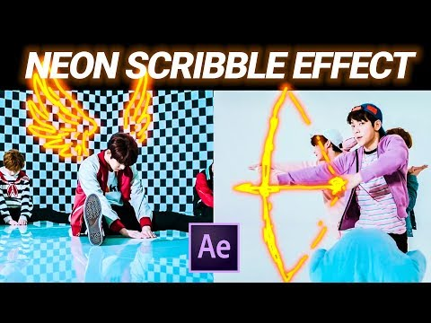 Glowing Scribble Animation in After Effects from TXT