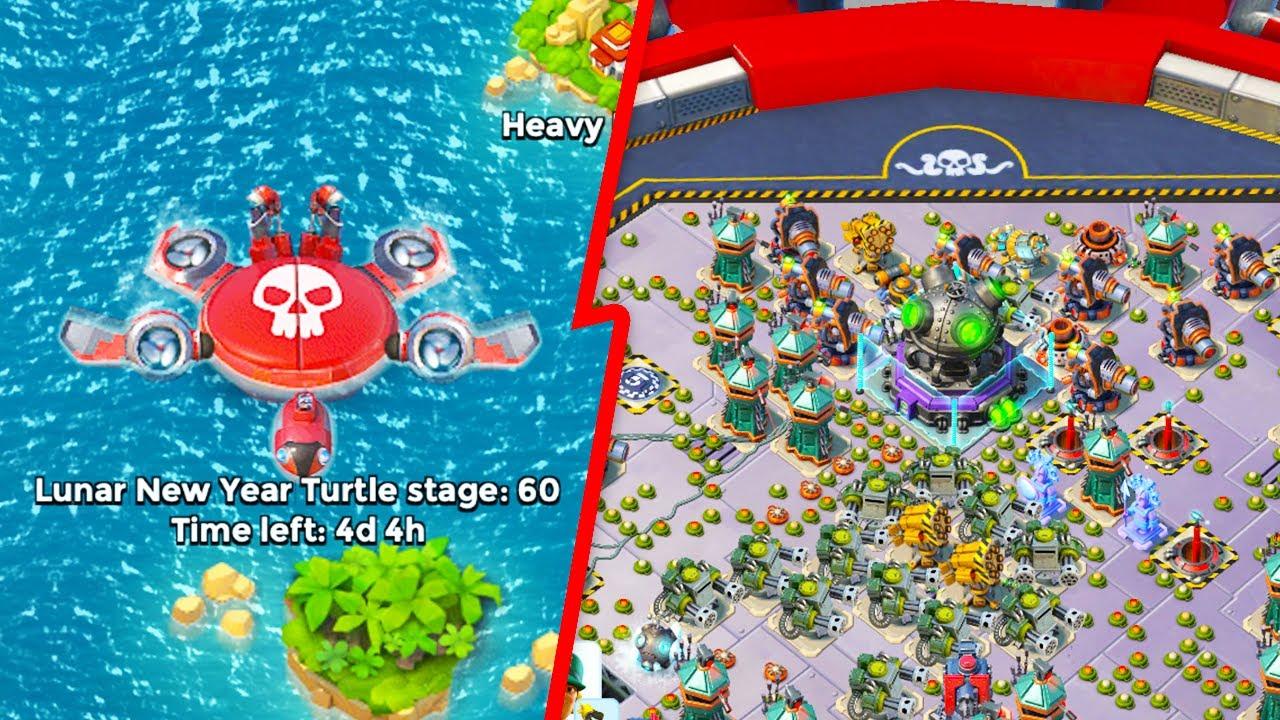 Download Lunar New Year Mega Turtle Sneak Peek in Boom Beach!
