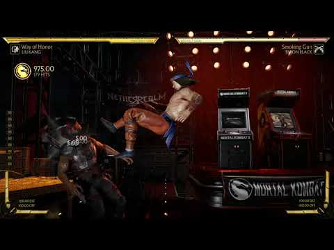 Mortal Kombat 11: Liu Kang Infinite Bicycle kick in practice mode