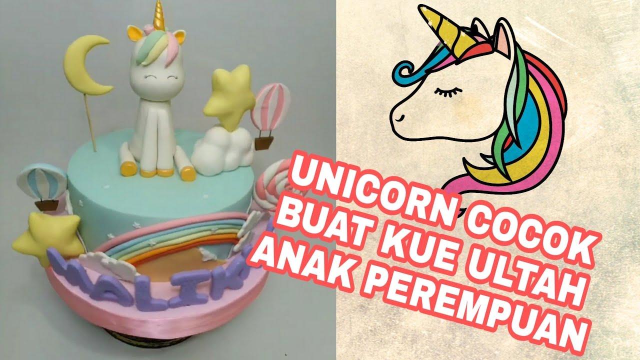 Kue Ulang Tahun Anak Perempuan Unicorn