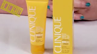 CLINIQUE Oil-Free Face Cream Broad Spectrum SPF 30 Review and Swatch (Sunscreen Week 2018)