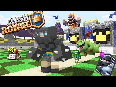 Monster School : Clash Royale Red King Legendary Deck - Minecraft Animation