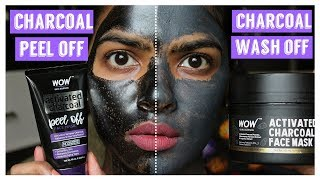 Charcoal Peel off Vs Charcoal Wash off Mask || Face off time 💢🚫