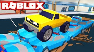 DESTROYING COP CARS with a MONSTERTRUCK in Roblox Jailbreak!