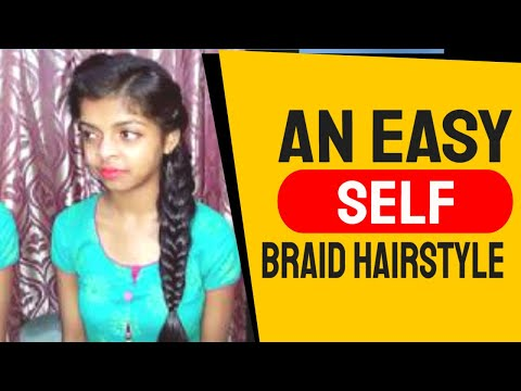 An Easy Self Braid Hairstyle for Girl's. Cute look. Hairstyle College//Office. thumbnail