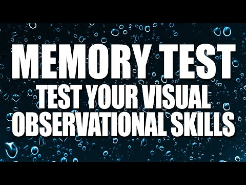Memory Test | Test Your Visual Observational Skills | 10 Minute Memory Game for fun | |