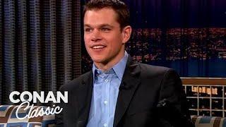 Matt Damon On Europe's Weird Holidays - 'Late Night With Conan O'Brien'