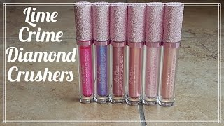 REVIEW: Lime Crime Diamond Crushers with Lip Swatches