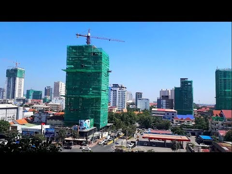 Topping Skyline Building 2018 - View From The Skyscraper Building Phnom Penh City Cambodia