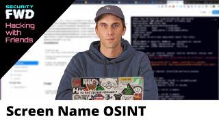 Screen Names from Maltego OSINT Investigations