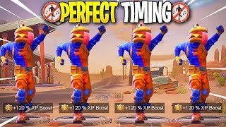 *NEW* Fortnite Dances At The Same Time! #4 - Fortnite - Perfect Timing Compilation!