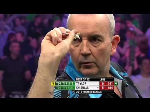 PDC Premier League of Darts 2016 - 2 9 darter attempts Phil Taylor