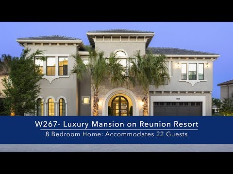 8 Bedroom Luxury Mansion on Reunion Resort in Orlando, FL