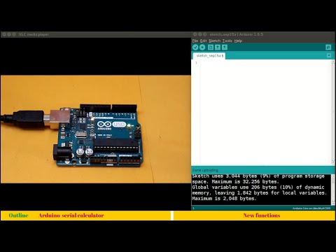 14. Making a calculator using Arduino serial communication