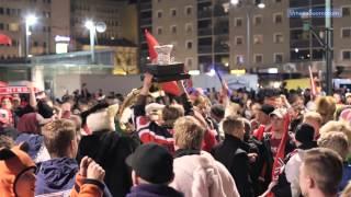 Porin Ässät on Suomen mestari 2013 - fanit suuntasivat torille