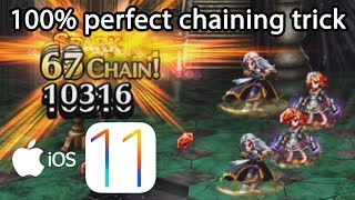 FFBE: iOS Control Center trick 100% perfect spark chaining