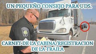 Consejo de Camiones   El Carnet de la Cabina/Registracion de la Traila