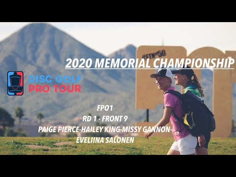 2020 Memorial Championship Presented By Discraft | RD1, F9, FPO | Pierce, Salonen, Gannon, King