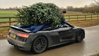 Christmas Tree Shopping With An Audi R8