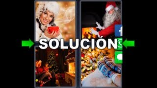 4 Fotos 1 Palabra Navidad Papa Noel Estufa Mujer Cafe Medias - Enigma Diario Diciembre 5 Letras