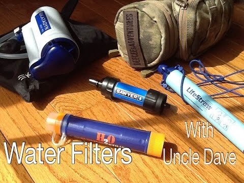 Best Water Filter - Katadyn hiker pro, LifeStraw, Sawyer Mini, H2O Survival Straw