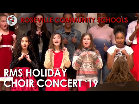 Roseville Middle School Holiday Choir Concert '19