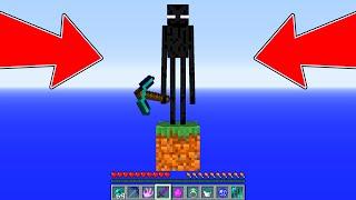 Minecraft - HOW ENDERMEN SURVIVES in ONE BLOCK Minecraft : NOOB ENDERMAN vs PRO ZOMBIE! NOOB VS PRO