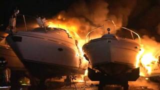 Mabas25  Seneca Fire Dept -17 Yachts on Fire Fully Involved