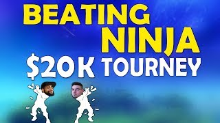 BEATING NINJA IN A 20K TOURNAMENT | DUO With CAMILLS VS NINJA & COURAGEJD -(Fortnite Battle Royale)