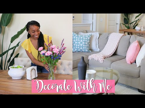 SPRING/SUMMER DECORATE WITH ME 2019 | APARTMENT DECOR HAUL & QUICK AND EASY DECOR IDEAS!!