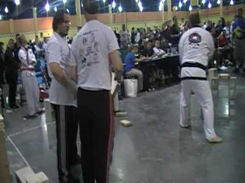 Shawn Moss Clenching 1st place in Creative Wood Breaking at US Open Martial Arts Championships 2009